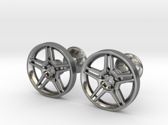 Mercedes Benz E55 AMG Cufflinks 3d printed