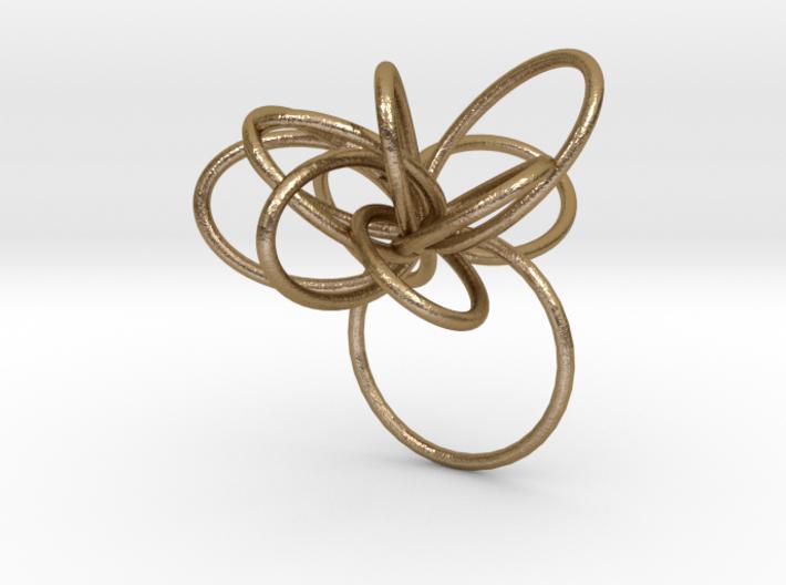 Flora Ring B (Size 9) 3d printed