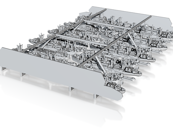 1/3000 US Navy Amphibious Ships & Crafts 3d printed