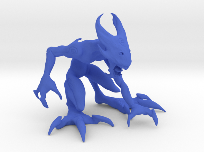 """4"""" Large Croutching Fire Sprite 3d printed"""