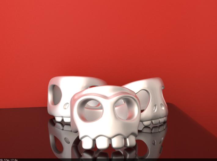 Crimson Skull 10¼ 3d printed