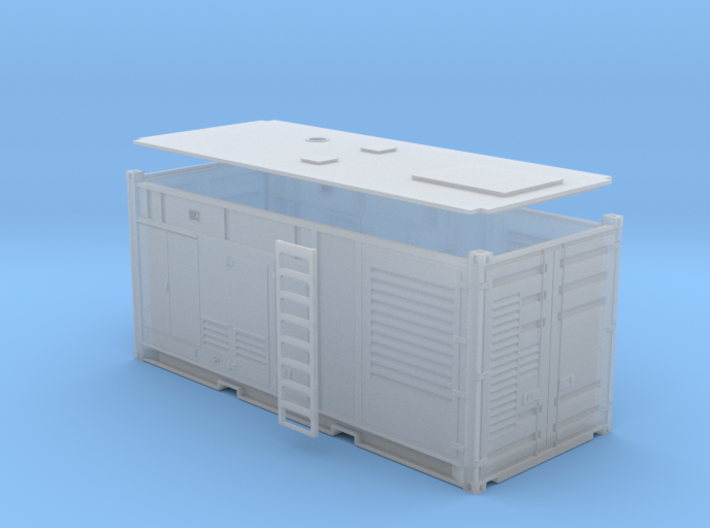 1:87 Generator AC 1MW in einem 20 ft Container 3d printed