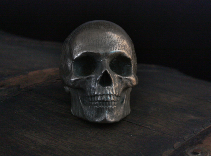 Yorick Full Skull with Latin Inscription 3d printed
