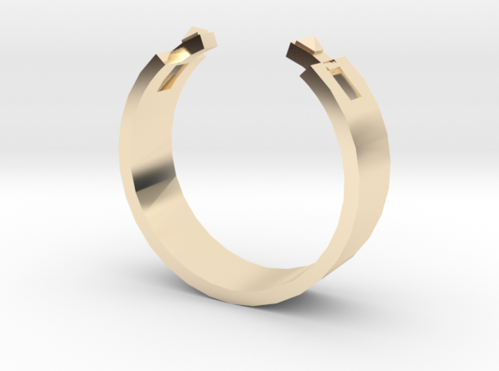 Studded Cuff Ring - Sz. 8 3d printed