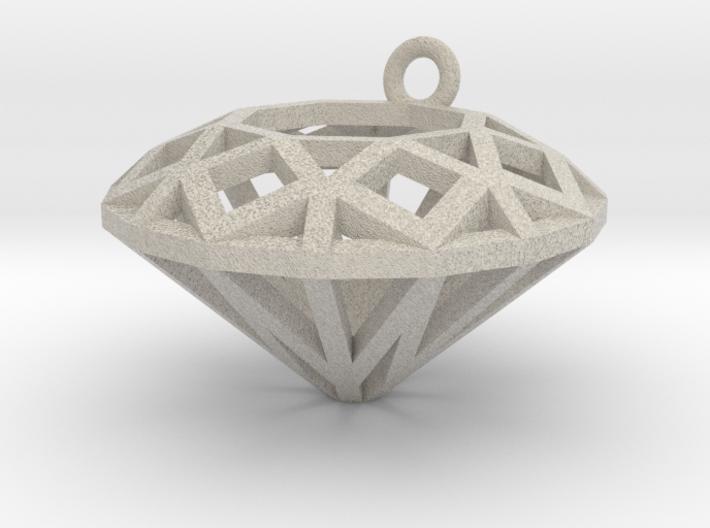Diamond Charm 3d printed