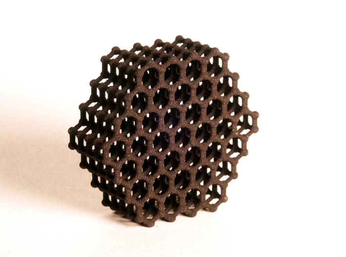 Carbon Model (S) 3d printed Black Strong and Flexible