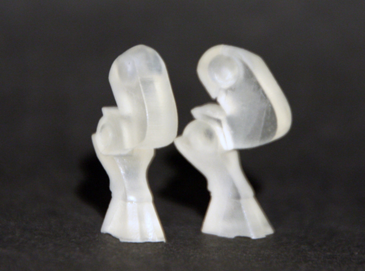 Goat Legs for Minimates 3d printed printed in Frosted Ultra Detail