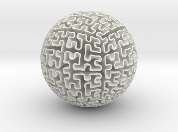 Hilbert Sphere 3d printed