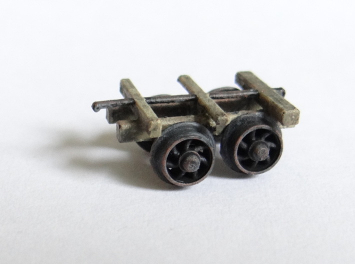 Rhosydd Quarry Rubbish Truck (Underframe x3) 3d printed A Painted Underframe