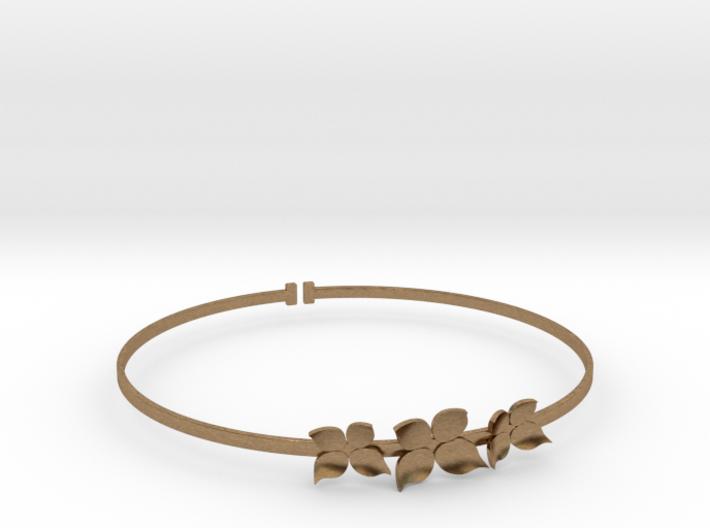 Bracelet - Dogwood Flowers (Size L) 3d printed