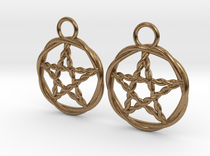 Woven pentacle earrings 3d printed