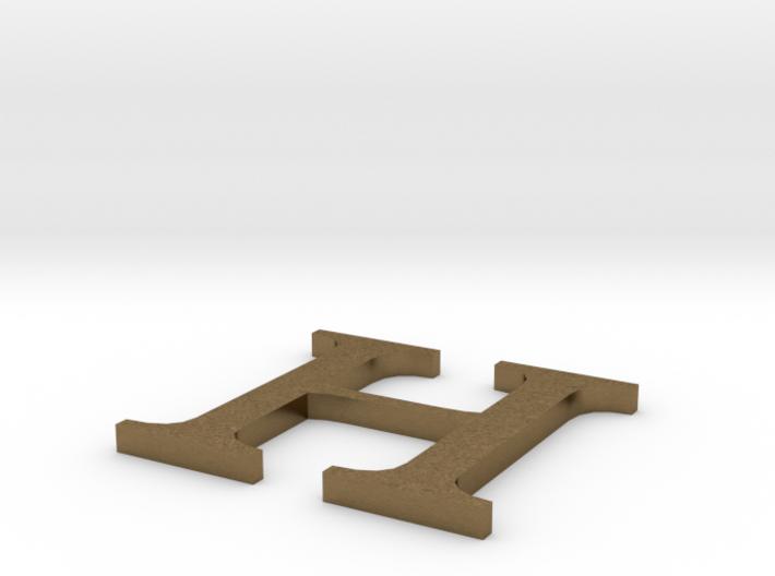 Letter-H 3d printed