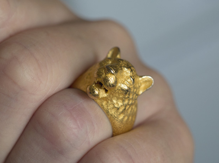 Leoparg Ring 3d printed