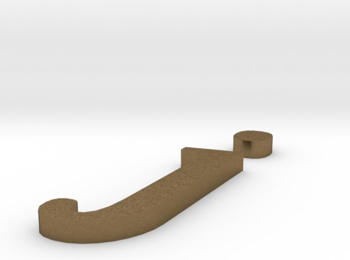 Letter- j 3d printed