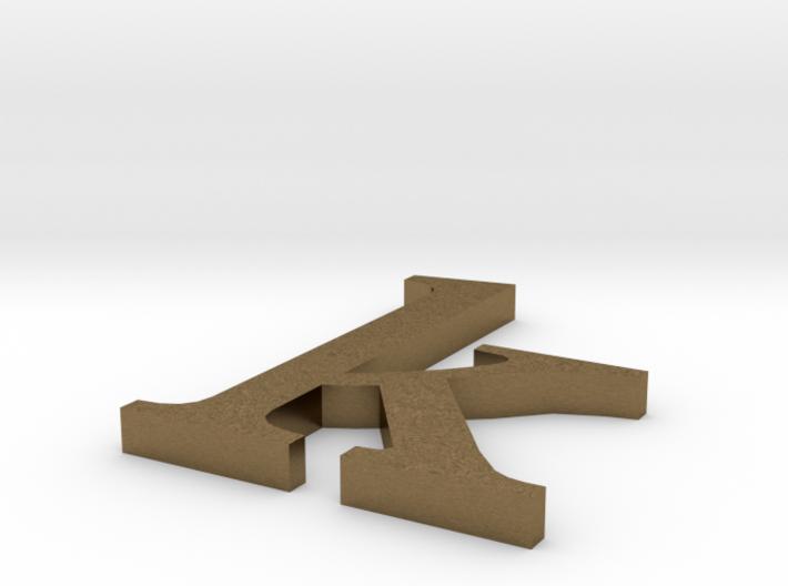 Letter- k 3d printed
