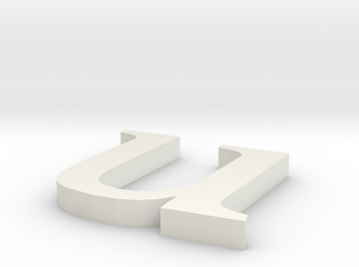 Letter- u 3d printed