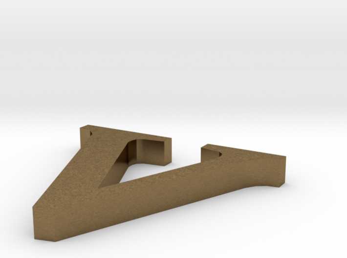 Letter- v 3d printed
