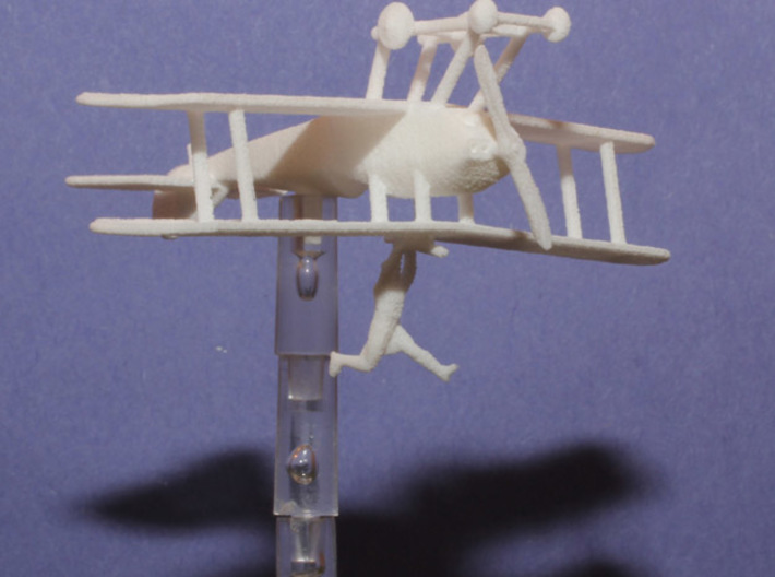 Martinsyde S.1, Inverted, with Louis Strange 3d printed The printed model in WSF
