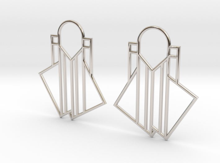 A Little Off-Center Earrings 3d printed