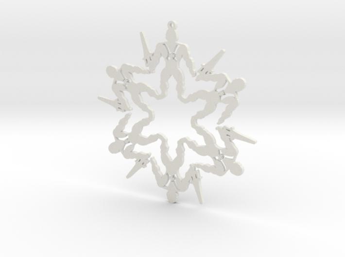 Snowflake He-Man Ornament 3d printed