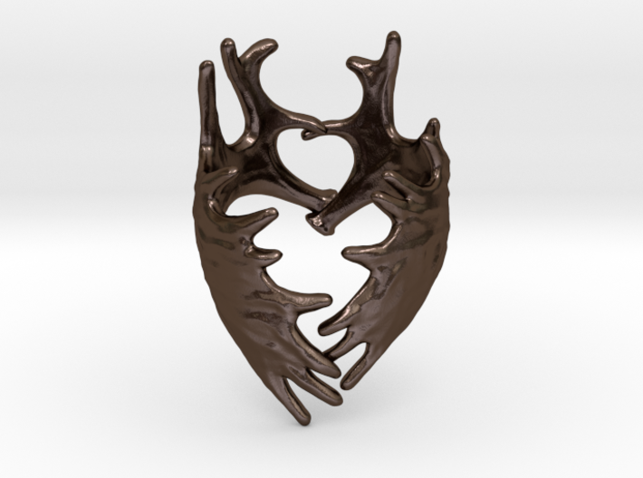 (Size 13) Moose Antler Ring 3d printed