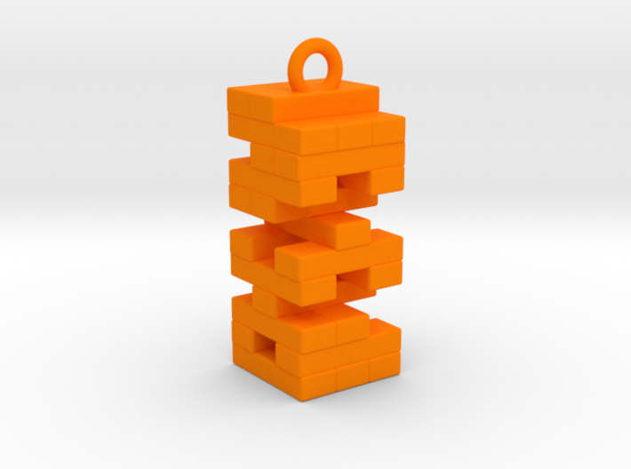 Jenga Necklace 3d printed