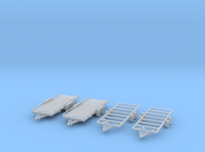 Flatbed trailers and trailer frames X4 HO Scale 1/ 3d printed