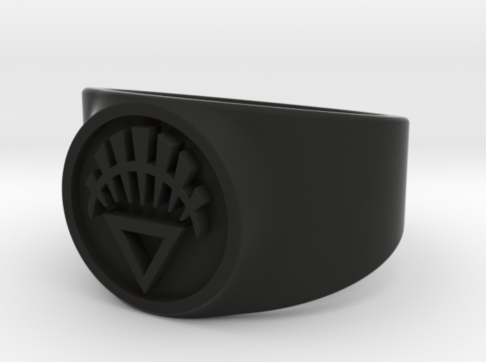 White Life GL Ring Sz 13 3d printed