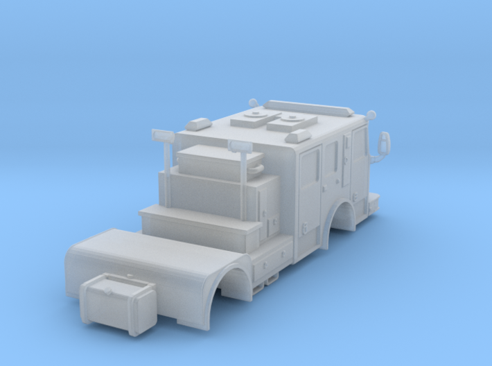1/87 HO Seagrave Tractor (No Wheels) 3d printed
