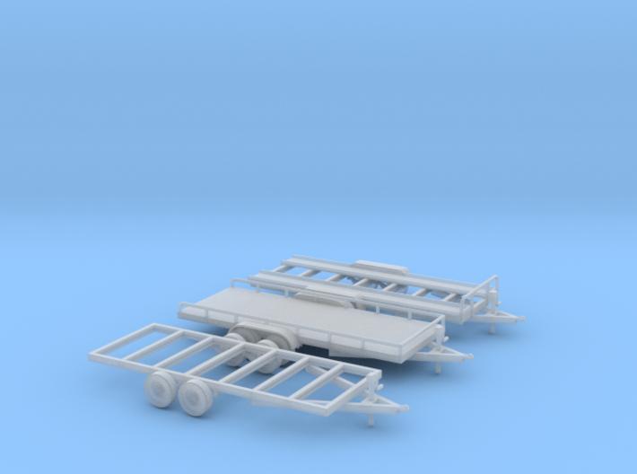Trailer Assortment HO Scale 1/87 FUD material 3d printed