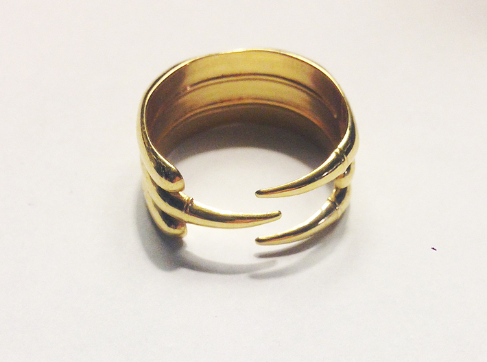 Claw Ring - Sz. 9 3d printed