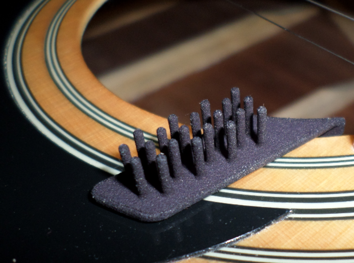 Acoustic Guitar Pick Holder - Top Pick Style 3d printed Acoustic Guitar Soundhole Pick Holder
