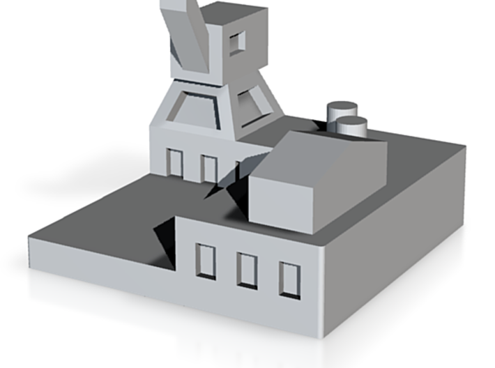 Naval Base Facility for Warfare Boardgaming 3d printed