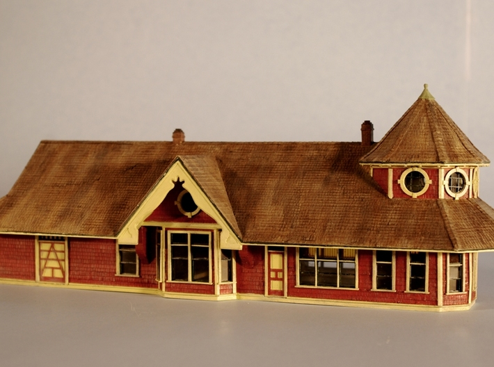 N Scale Georgetown Stn Roof 3d printed This is my completed model in HO