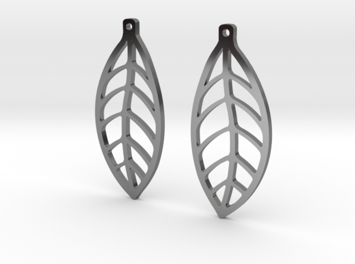 LEAF Earrings SMALL 3d printed