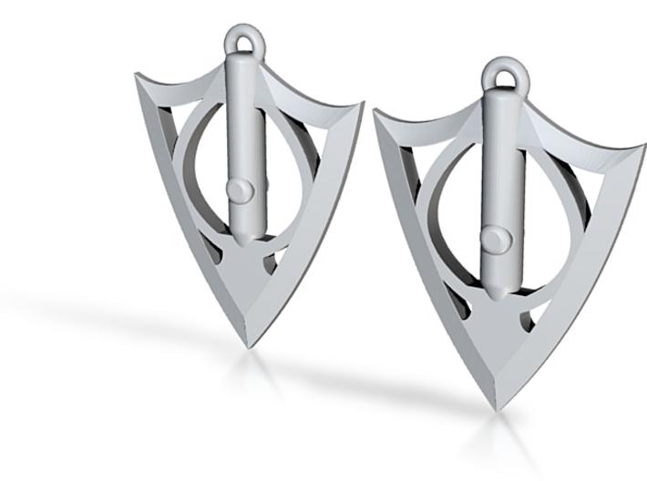 Broadarrow Earrings 3d printed