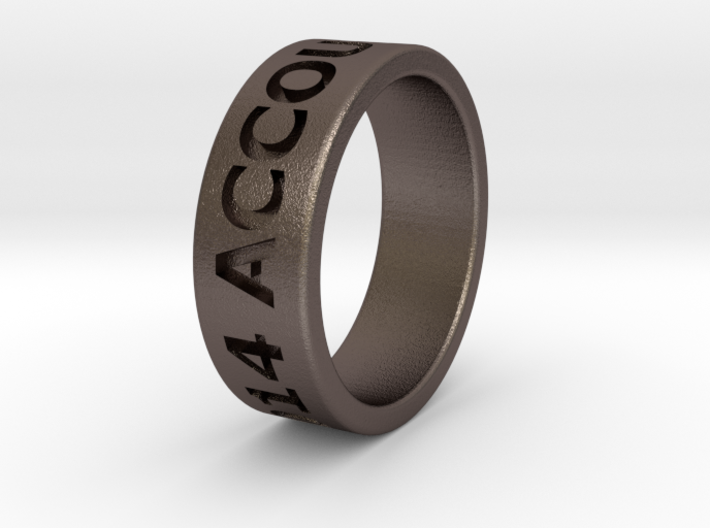 USF Accounting 2014 Ring 3d printed