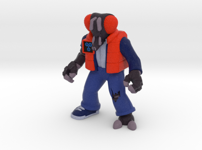 Muty McFly Parody Figure (Colored Sandstone) 3d printed
