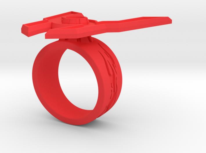 GG Rage Ring Sz 8 3d printed
