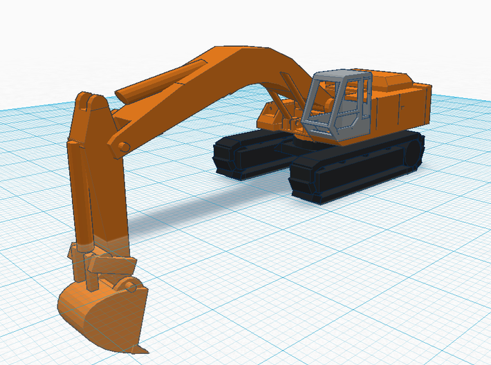 Hitachi EX400 Excavator 1:150 (N Scale) V3 3d printed NOTE, boom hydraulics not included