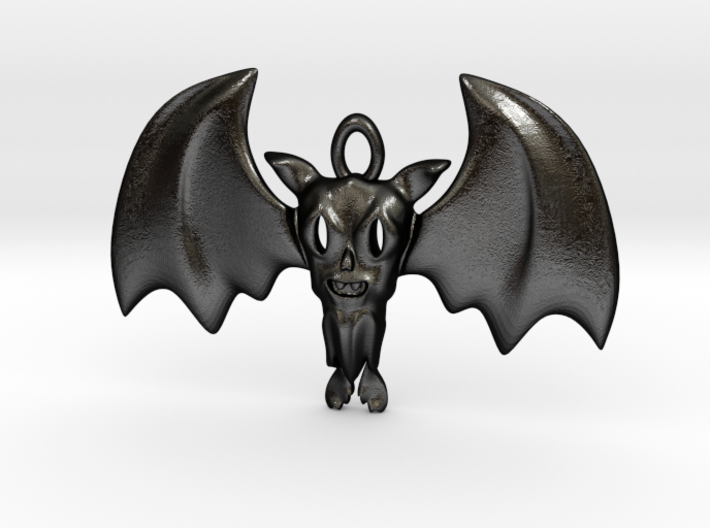 Little Toothy Fun Bat Pendant 3d printed