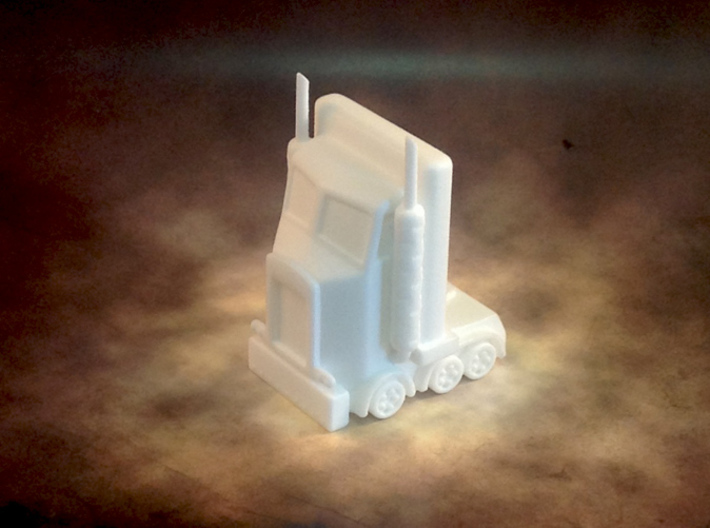 My Little Optimus Prime 3d printed Photograph of printed model