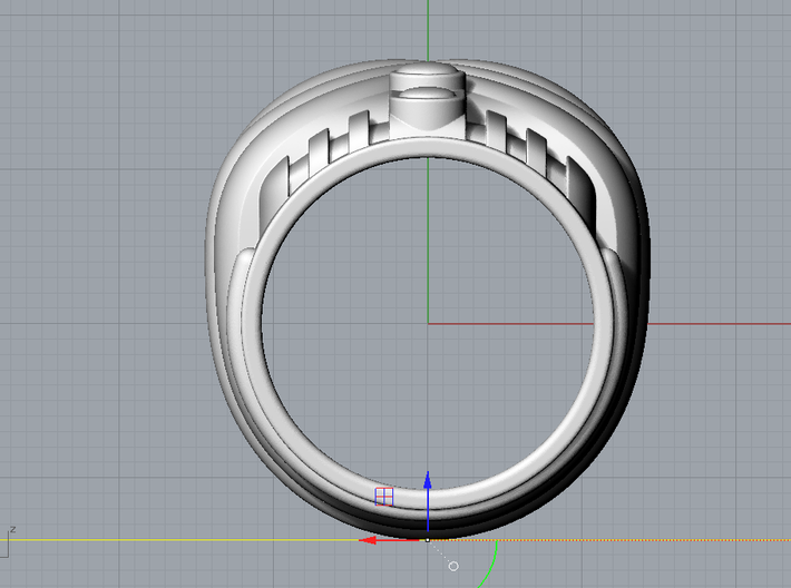 Mystery Train Ring _ Size 12 (21.49 mm) 3d printed