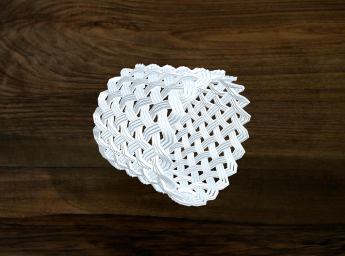 Turk's Head Knot Ring 10 Part X 19 Bight - Size 16 3d printed