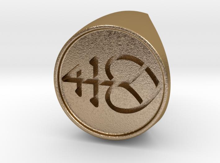 Custom Signet Ring 2 3d printed