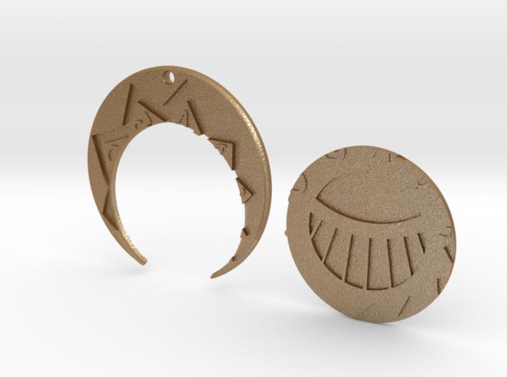 Golden CitiesMedal Pendant 3d printed