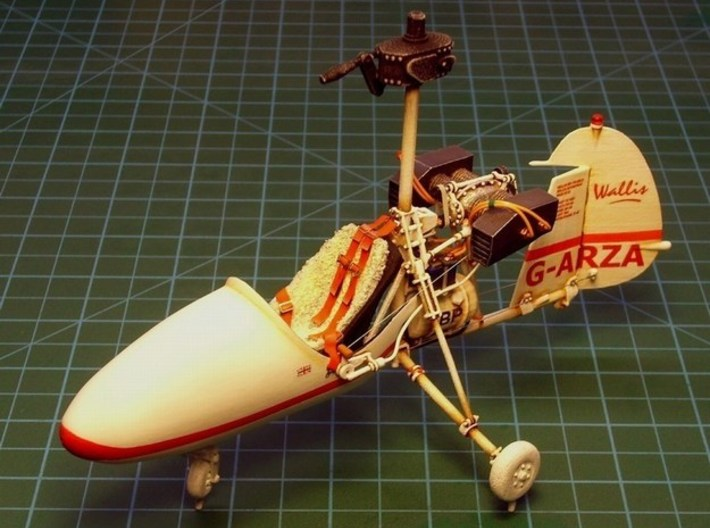 1/18 scale Wallis WA-116 Agile autogyro model kit 3d printed Assembled & partial painted