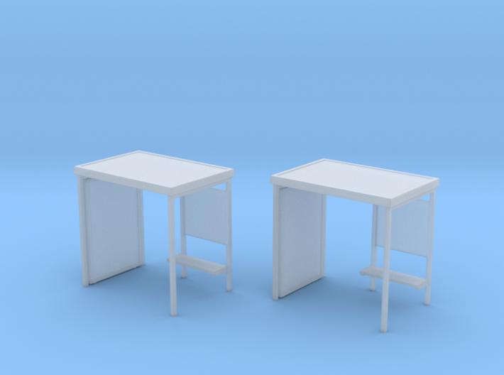 2 Modern Bus-stops (1:160) 3d printed