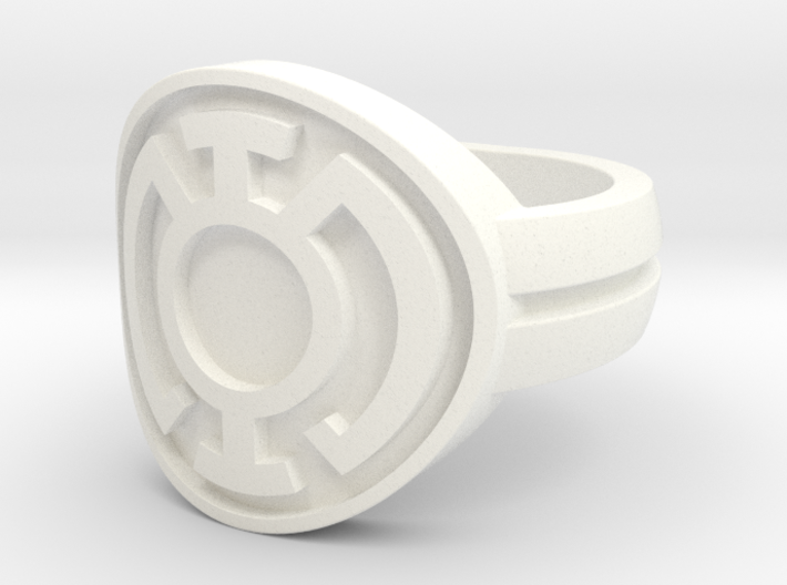 Blue Lantern Double Banded Sz 6 3d printed