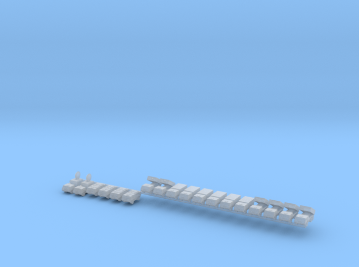1/700 Astros II MLRS Battery 3d printed